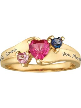 Personalized Family Jewelry Jewel Ring available in Sterling Silver, 10kt Gold over Silver, Yellow and White Gold
