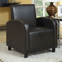 Acme Maxie Accent Chair, Black Faux Leather