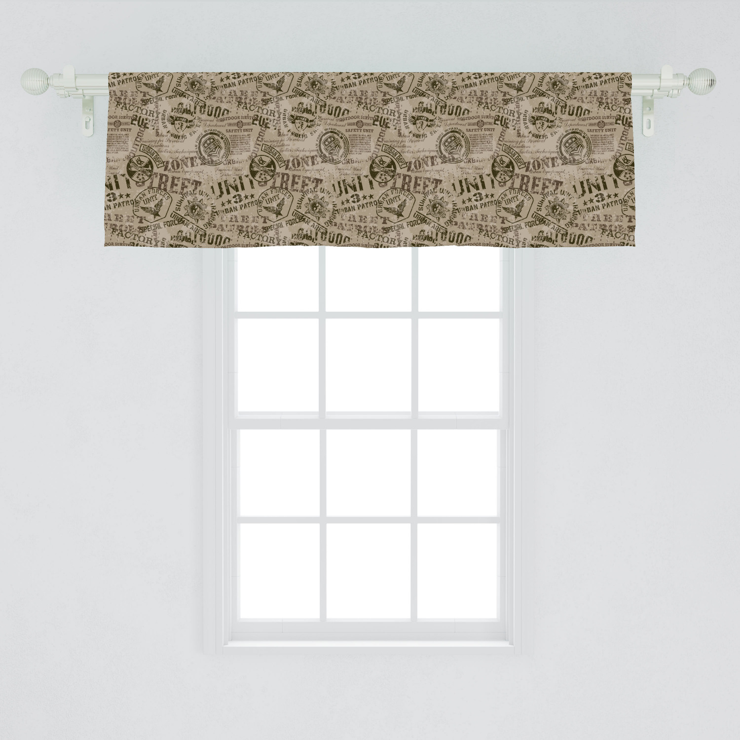 Grunge Window Valance Nostalgic Pins From Different Countries Uniform Style Graphic Design Pattern Curtain Valance For Kitchen Bedroom Decor With Rod Pocket By Ambesonne Walmart Com Walmart Com