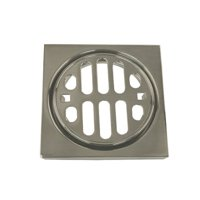 Westbrass Frank Pattern Snap-In 4.5'' Shower Strainer with Overflow