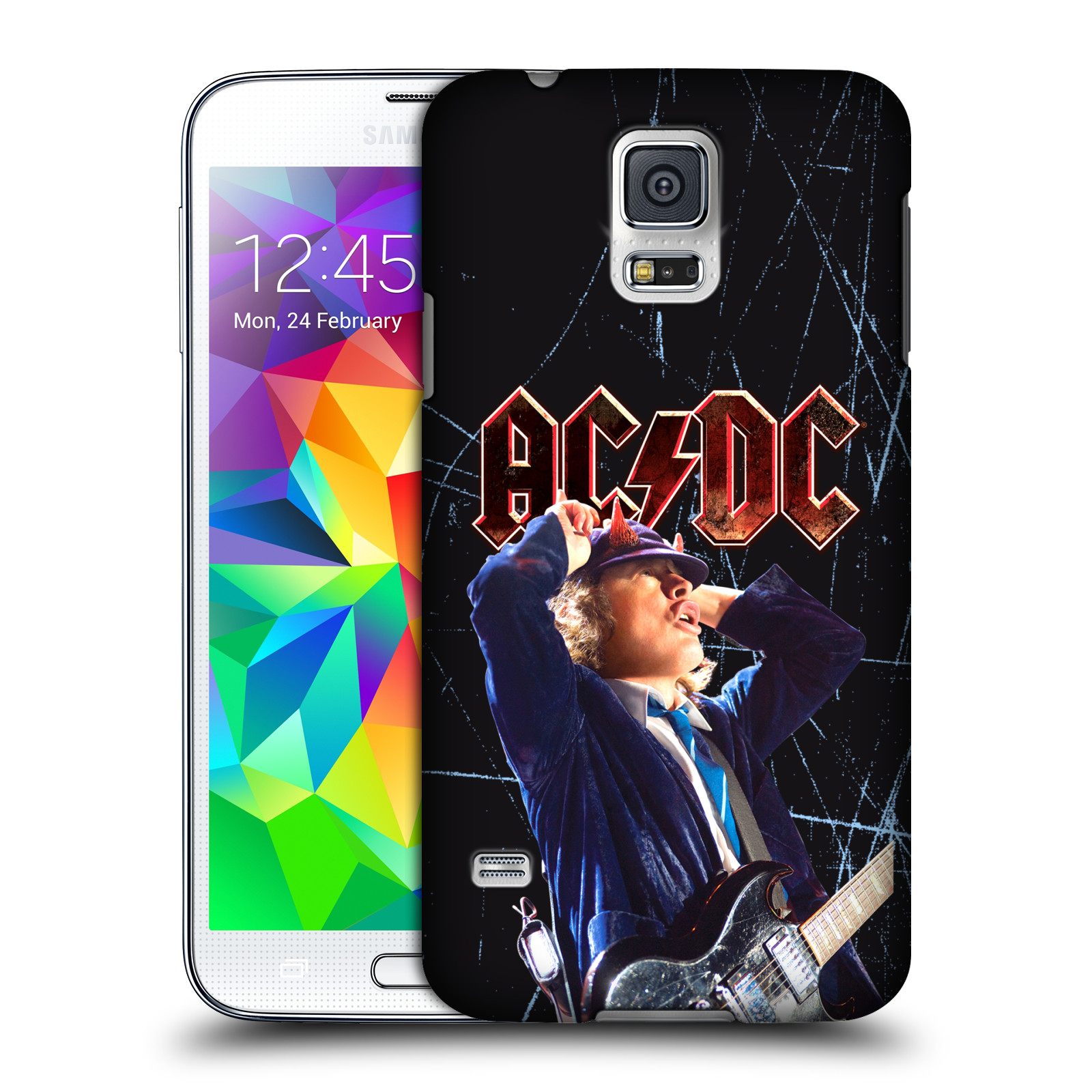 OFFICIAL AC/DC ACDC SOLO HARD BACK CASE FOR SAMSUNG PHONES 1