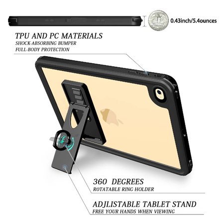Cribun iPad Mini 4 Waterproof Case,IP68 Waterproof iPad Mini 4 Waterproof Case with Adjustable Tablet Stand Built-in Screen Protector - image 3 of 7