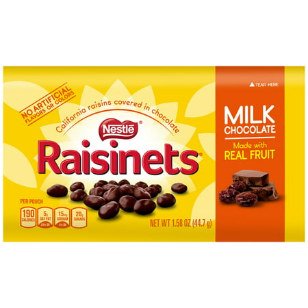 Nestle Raisinets Milk Chocolate Candy, 1.58 Oz, 36 Ct