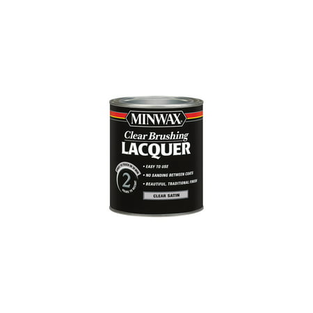 - Minwax® Clear Brushing Lacquer Satin 1-Qt