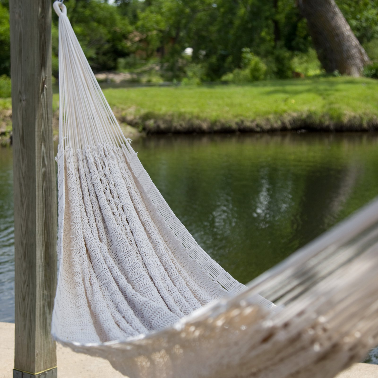 XXL Hand Woven Thick String Double Hammock