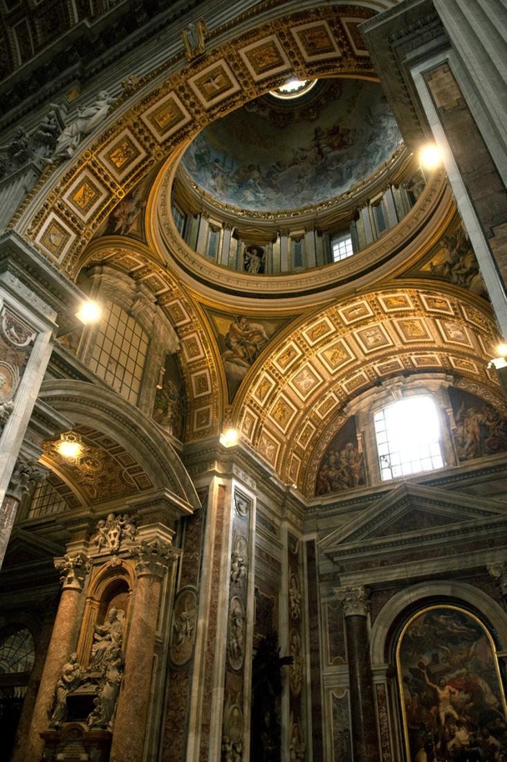 Vatican City, Rome, Italy, Ceiling Inside Saint Peter's