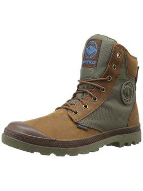 palladium men's pampa sport cuff wpn rain boot, brindle brown/moon mist, 10 m us