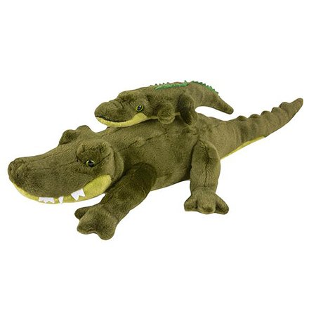 """Wildlife Tree 19 and 10"""" Stuffed Alligator Mom and Baby Plush Floppy Zoo Animal Family Collection"""