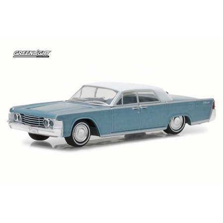 1965 Lincoln Continental, Blue - Greenlight 29932/48 - 1/64 Scale Diecast Model Toy Car