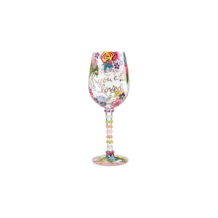 Lolita Halloween Wine Glasses (Lolita 6001349 Mom You Are Loved Wine)