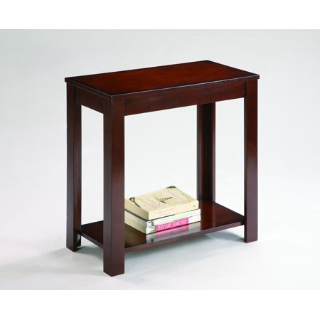 Pierce Chairside Table (Merlot Finish Chairside Table)