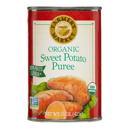 (6 Pack) Farmer's Market Organic Sweet Potato Puree, 15 (Best Tasting Heirloom Sweet Potatoes)