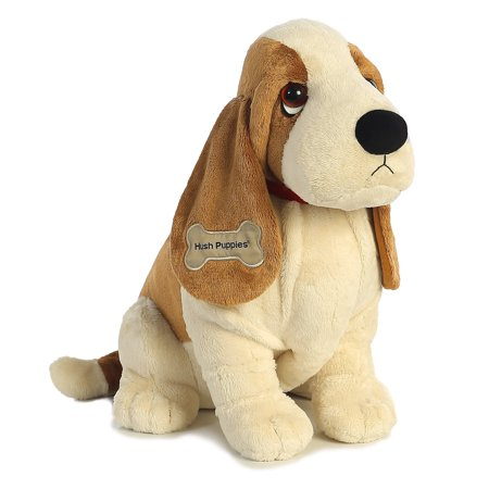 "18"" Aurora Hush Puppies Soft Plush Dog - 18"" Classic Basset Hound"
