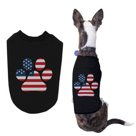 Red White Blue Paw Cute Independence Day Shirts for Small Dog Paw Dog Shirt