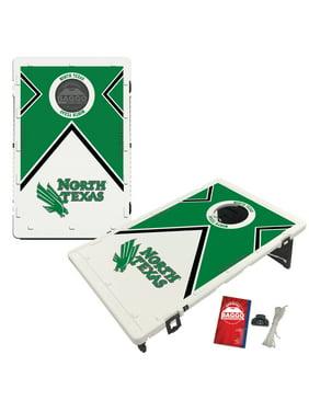 North Texas Mean Green 2' x 3' Vintage Bean Bag Toss Cornhole Game Set