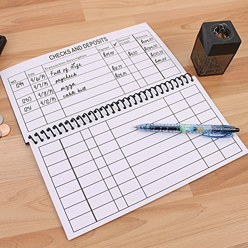 The Big Print Check Register Spiral Bound by