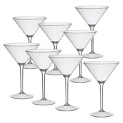 CreativeWare Acrylic 9.75 oz. Martini Glass - Set of 8