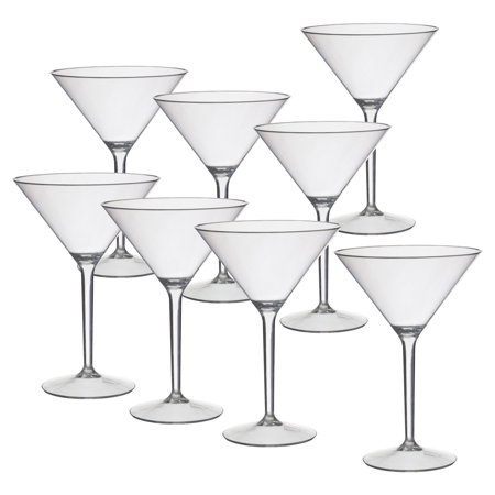 CreativeWare Acrylic 9.75 oz. Martini Glass - Set of 8 - Simple Halloween Martini