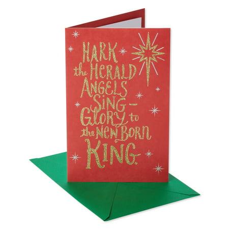 american greetings religious hark christmas card with glitter - Christmas Card Greetings Religious