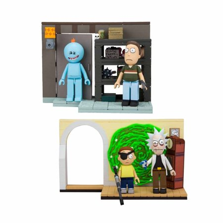 McFarlane Toys Building Small Sets - Rick and Morty - SET OF 2 (Evil R&M & Smith Garage Rack) (Building Construction Smith)