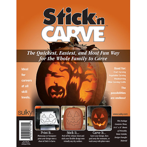"""Sulky Stick'n Carve Water-Soluble Fabric, 8-1/2"""" x 11"""", 3 Pack"""