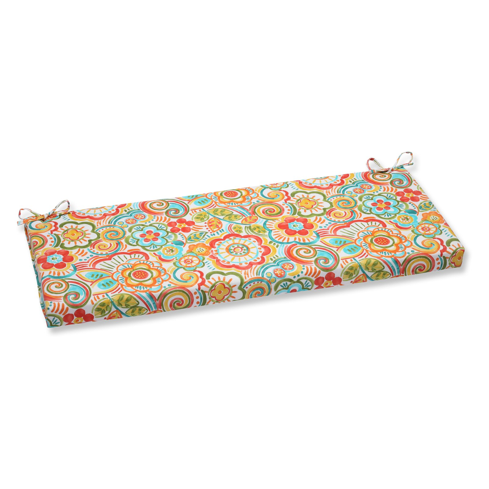Pillow Perfect Outdoor/ Indoor Bronwood Caribbean Bench Cushion