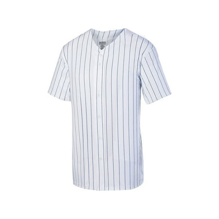 1685 Augusta Sportswear Jersey Men's Pinstripe Full Button Baseball