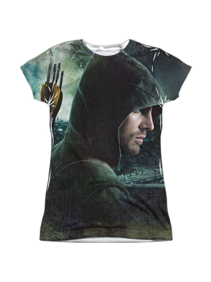 Arrow TV Series HERO 1-Sided Sublimated Big Print Poly T-Shirt