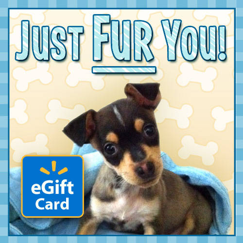 Just Fur You Dog Walmart eGift Card