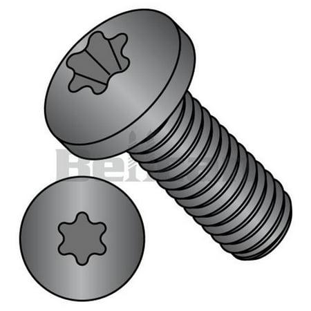 Shorpioen 0808MTPB No.8-32 x 0.5 6 Lobe Fully Threaded Pan Machine Screw, Black Oxide - Box of 10000 - image 1 of 1