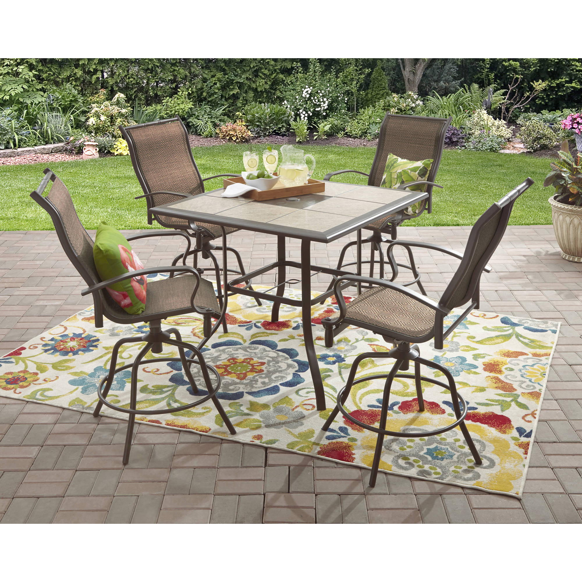 Mainstays Wesley Creek 5 Piece Counter Heights Dining Set