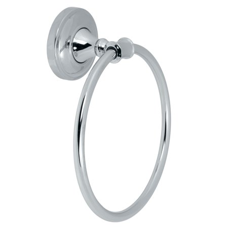 Polished Chrome Wall Mounted Towel Ring Hand Towels Bath Accessory Polished Chrome Wall