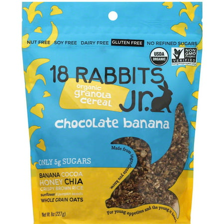18 Rabbits Granola Chocolate Banana Cereal, 1 bag, (Pack of 6)