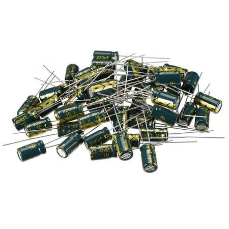 Aluminum Radial Electrolytic Capacitor Low ESR 220uF 16V 6.3x11mm 50pcs 16v Electrolytic Capacitor Radial