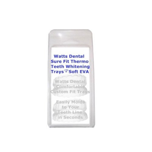 Watts Dental AXO0522NL Soft Comfort Fit Custom Teeth Whitening Trays BPA Free 2 Complete Sets