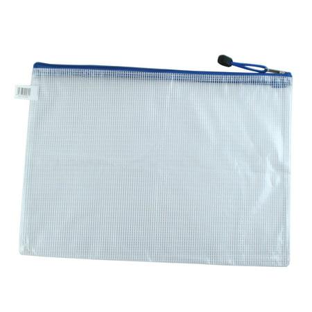 Unique Bargains Zipper File Folder Document Bag with Waterproof Net