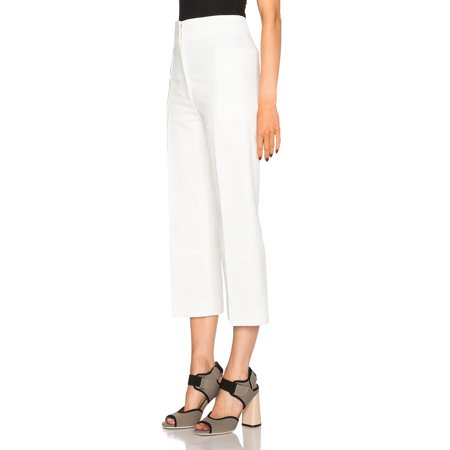 Marni White Wide Leg Pants Lily White 42