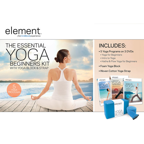 Element: Stretch, Release and Restore Yoga Kit with Massage Roller Balls DVD/VUDU Kit