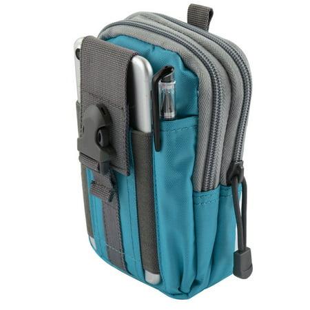Heavy Duty Canvas Sports Activity Waist Pack Pocket Belt for ZTE Axon 7,  Axon Pro, Warp Elite, Max+, Grand X Max, Grand X Max (Blue) + MND Mini  Stylus