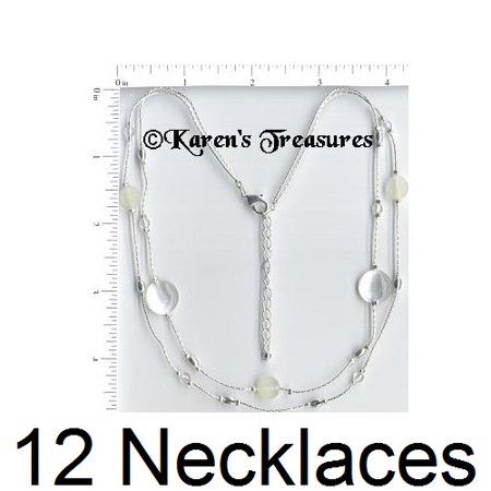 12 Necklaces Wholesale Lot Silver Plated Fashion Jewelry Costume