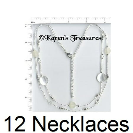 12 Necklaces Wholesale Lot Silver Plated Fashion Jewelry Costume](Wholesale Necklaces)