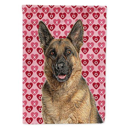 Hearts Love and Valentine's Day German Shepherd Garden Flag ()