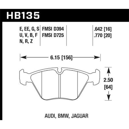 Hawk 95-99 / 01-06 BMW M3 Blue 9012 Race Front Brake Pads Blue Bmw Brake Pad