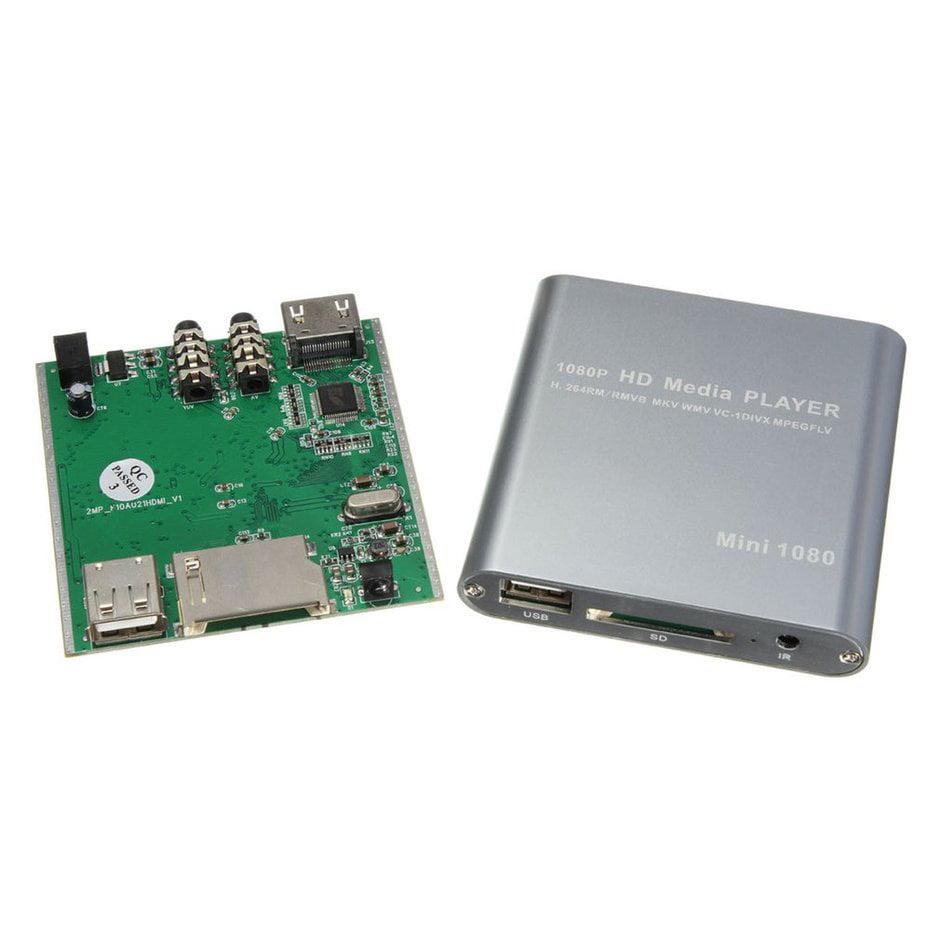 (EU)Mini USB HD 1080P MKV AV Port HDMI Video Audio Digital Multi Media Player