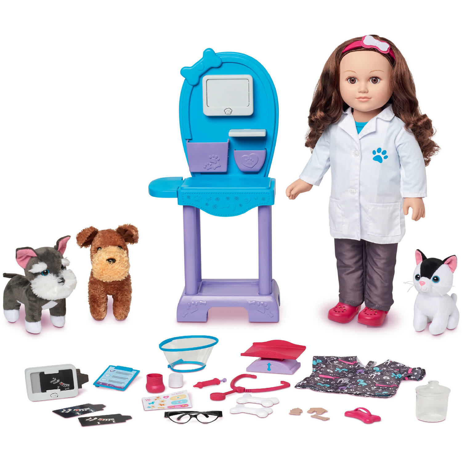 "My Life As 18"" Doll of the Year Vet Doll Play Set, Caucasian with Brown Hair"