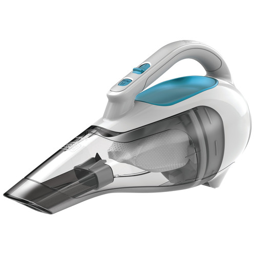 Black & Decker DustBuster Cordless Lithium Hand Vacuum - 15.50 W Air Watts - Bagless - Filter, Crevice Tool, Brush, Upholstery Tool - Battery - Battery Rechargeable - Flexi Blue