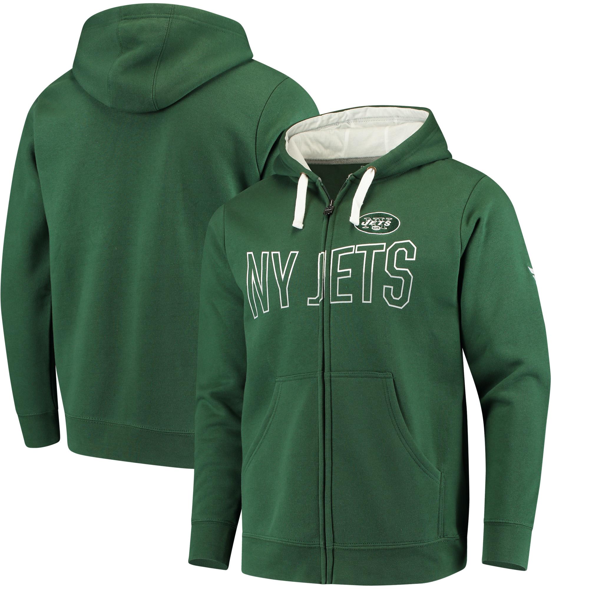 New York Jets NFL Pro Line by Fanatics Branded Iconic Fleece Full-Zip Hoodie - Green