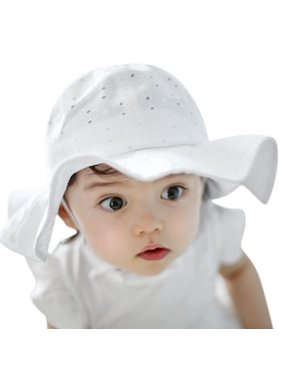 Kid's 50+ SPF UV Protective Wide Brim Bucket Baby Sun Hat