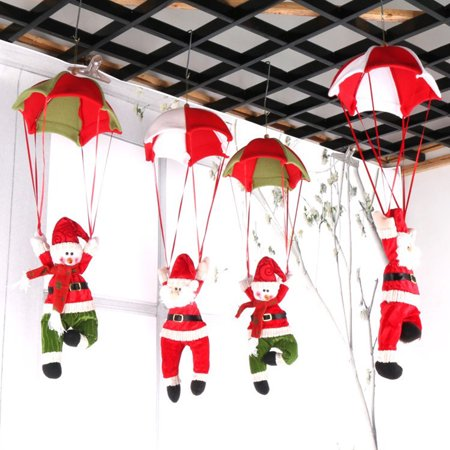 Santa Claus Christmas Home Ceiling Decoration Parachute Doll Hanging Pendant Toy ()
