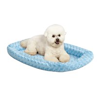 Midwest QuietTime Double Bolster Dog Bed & Crate Mat